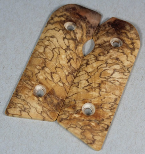 1857 Exotic Spalted Tamarind Burl Starburst for the Kimber Solo