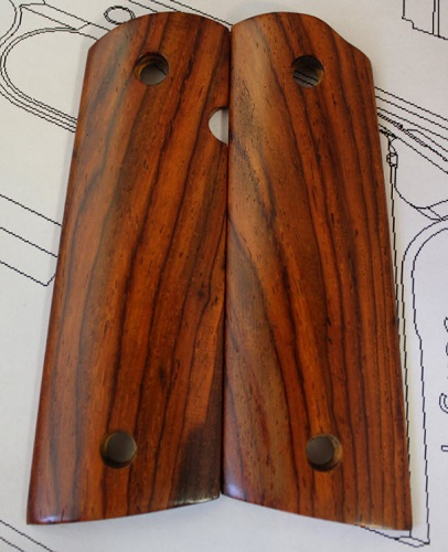75008 High Color Mexican Cocobolo 1911 Gov't Magwell Grips
