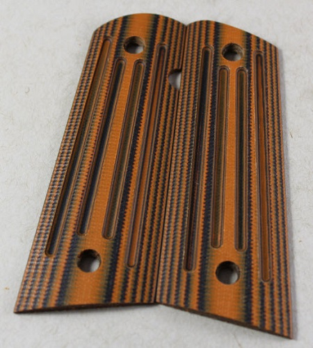 9039  -  Larry Davidson Slim 1911 Government 4X4 Grips-black-orangeG-10