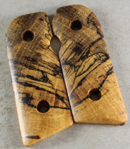 M1127 Exotic Spalted Pecan Burls for the Kimber Solo