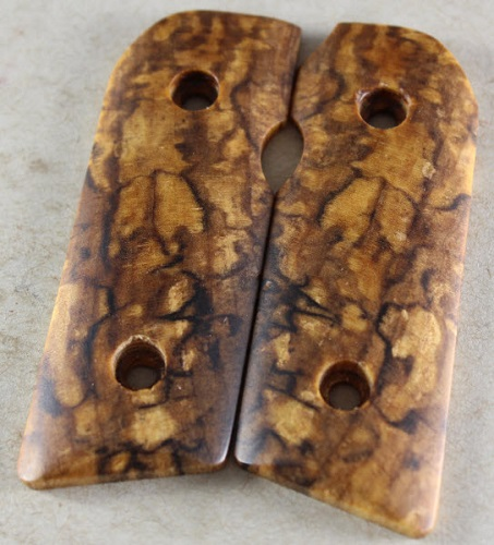 M1128 Exotic Spalted Maple Burls for the Kimber Solo